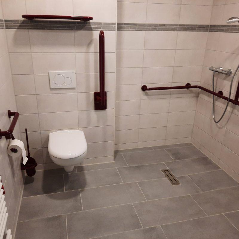St. Elisabeth Senioren – Pflegeheim in Köthen, 41 Bäder mit bodengleichen Duschen.